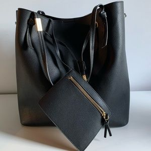 Foley + Corinna Faux-Leather Drawstring Tote Bag